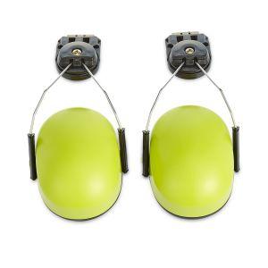 Luxury Style Cap-Mounted Earmuff, Yellow Cup + Black Cushion + Black Adapter