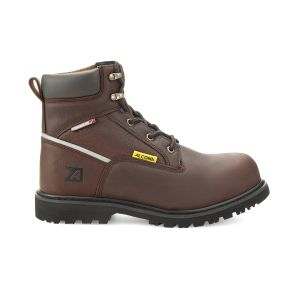 "Leather Safety Boots, 6"" Workboot, Plain Toe"