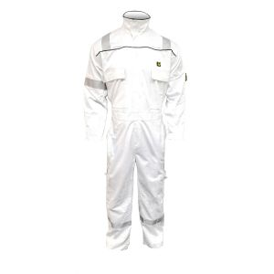 Coverall - Flame retardant | 3000 series-White-L