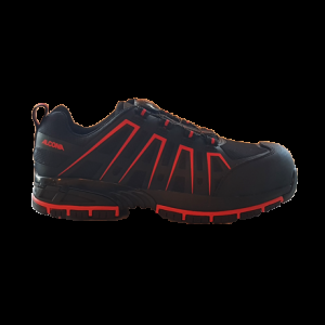 Alcona Safety Sport Shoes with Speed Lace System - Black/Red